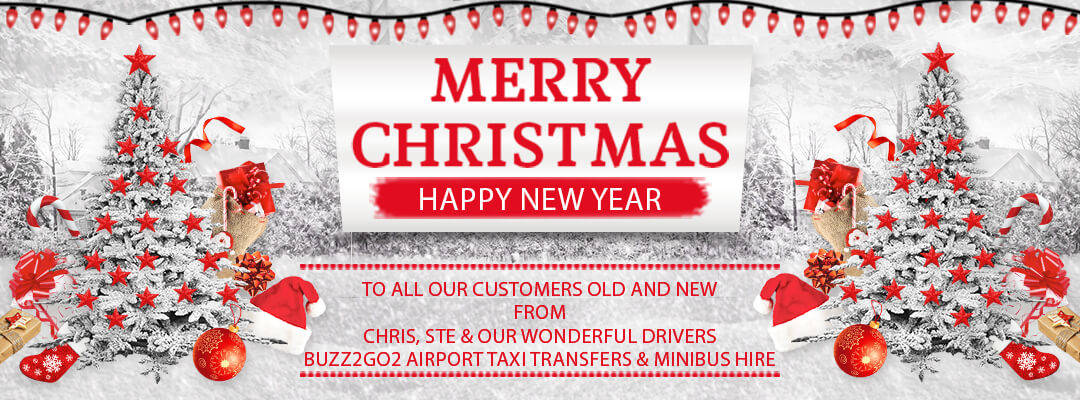 Seasonal Greetings from Buzz2go2 Airport Taxi Transfers & Minibus Hire Liverpool